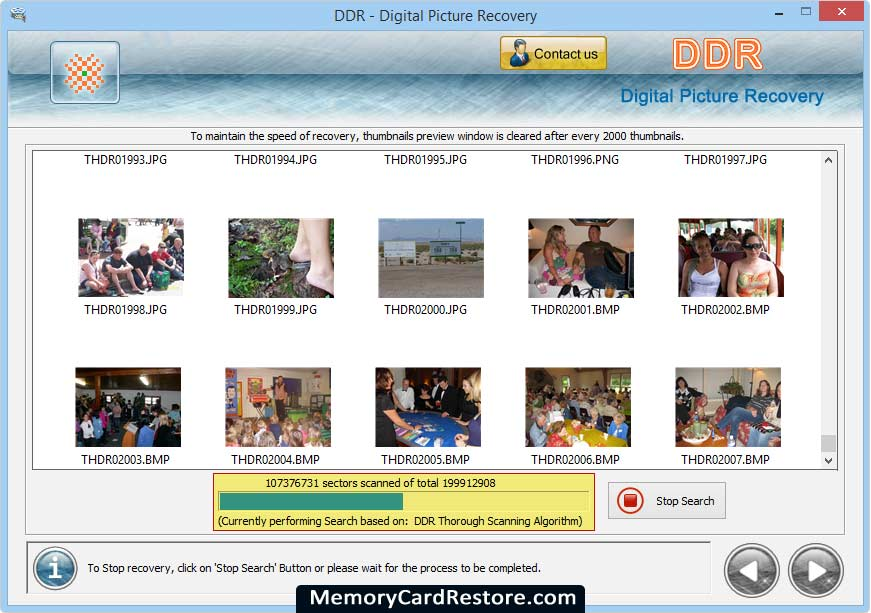 Digital Picture Recovery Application